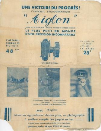 Publicité de l'Aiglon de Steiner (France, 1934).